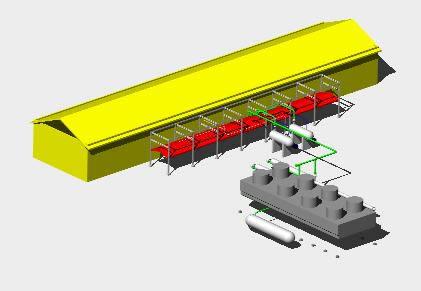 Planos de Planta  piping 3d, en Maquinaria – Granjas e inst. agropecuarias