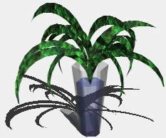 imagen Planta y florero en 3d, en Plantas de interior 3d - Arboles y plantas
