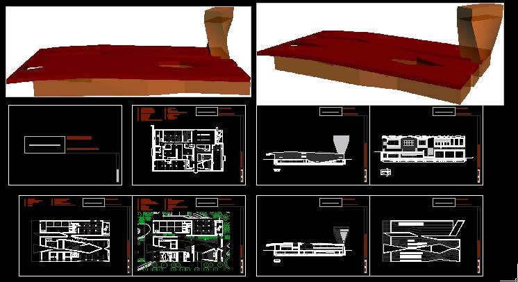 Planos de Plantas y secciones del edificio young museum, en Obras famosas – Proyectos