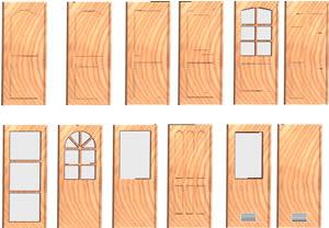 imagen Plantilla de puertas de madera en 3d, en Puertas 3d - Aberturas