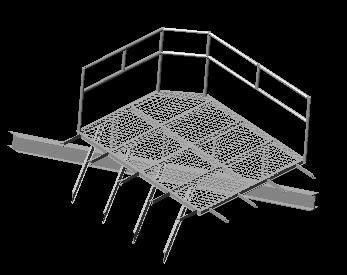 Planos de Plataforma, en Barandas – Escaleras