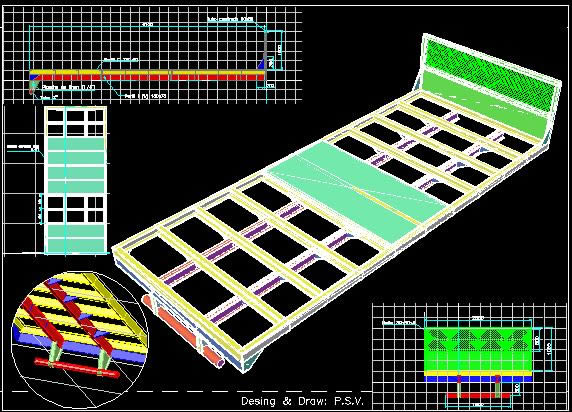 Planos de Plataforma para camion mercedes-benz 1720, en Medios de transporte – Proyectos