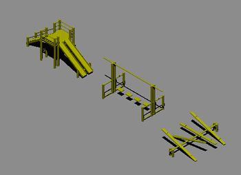 Planos de Playground 3d, en Juegos infantiles – Equipamiento urbano