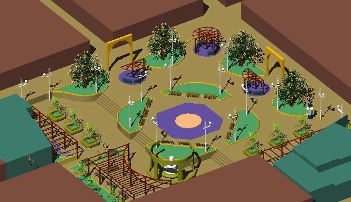 Planos de Plaza chucarapi, en Equipamiento de parques paseos y plazas – Equipamiento urbano