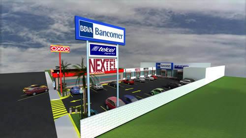 Plaza comercial 3d, en Centros comerciales supermercados y tiendas – Proyectos