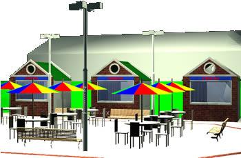 Planos de Plazoleta de comidas 3d, en Comedores – Proyectos
