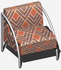 Planos de Poltrona braáo cromado – sillón 3d, en Bares y restaurants – Muebles equipamiento