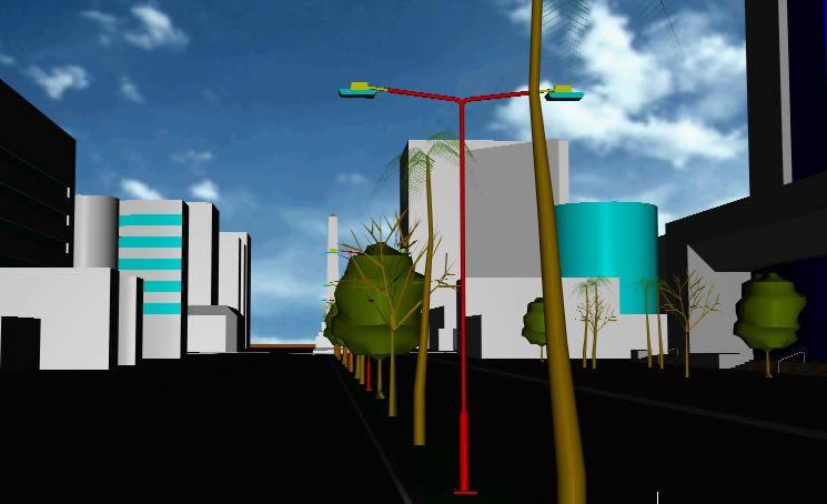 imagen Porción urbana 3d, en Ejercicios varios - Dibujando con autocad