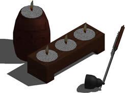 Planos de Porta velas 3d, en Objetos varios – Muebles equipamiento