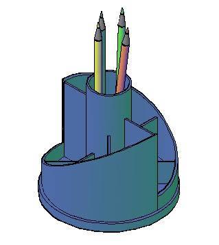Planos de Portalapiz de escritorio, en Objetos varios – Muebles equipamiento