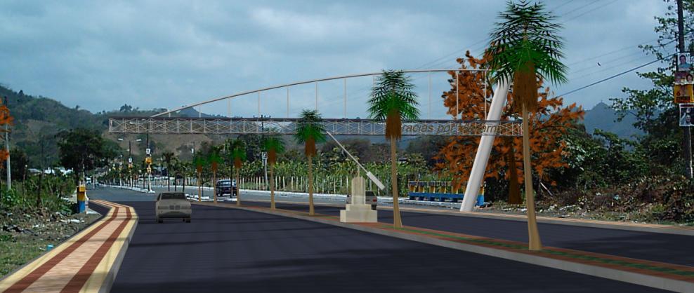 Portico 3d de acceso urbano, en Accesos – Proyectos