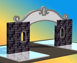 Planos de Portico de acceso, en Accesos – Proyectos