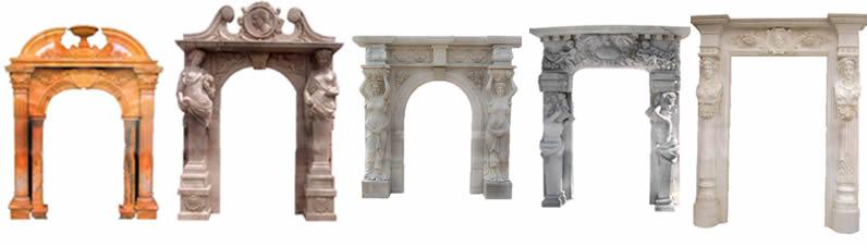 imagen Porticos de piedra tallada, en Historia - Aberturas