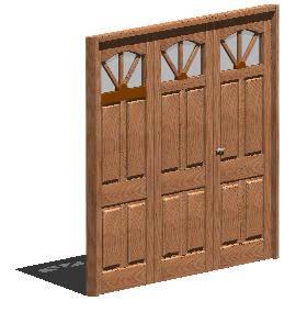 imagen Porton 3hojas madera 3d, en Portones - Aberturas