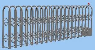 imagen Portón valla telescópico 3d, en Portones - Aberturas