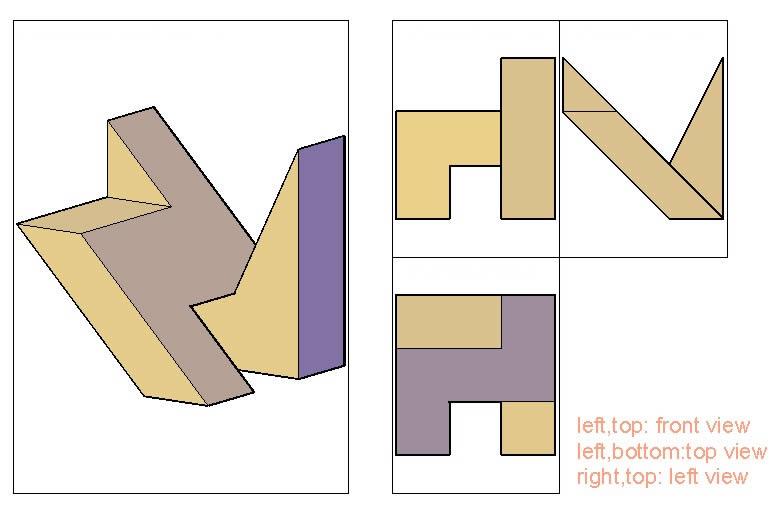 imagen Practica de proyeccion, en Ejercicios varios - Dibujando con autocad