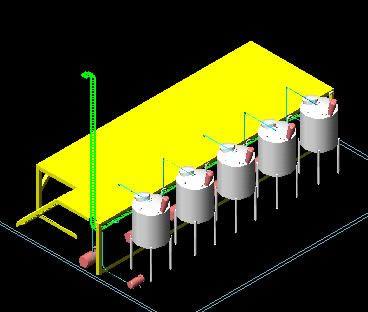 Planos de Premezcla de materiales 3d, en Instalaciones varias – Instalaciones