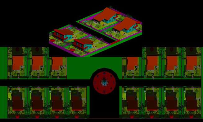 Planos de Progetto di lottizzazione 3d, en Vivienda unifamiliar 3d – Proyectos