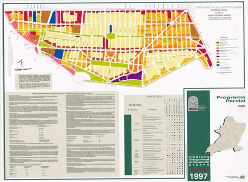 Planos de Programa parcial de polanco, en México – Diseño urbano