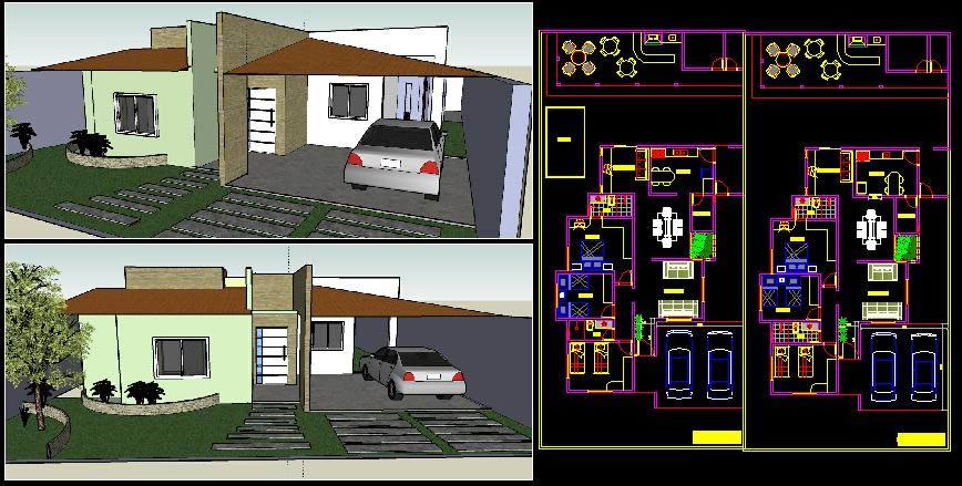 imagen Projeto residencial unifamiliar, en Vivienda unifamiliar - Proyectos