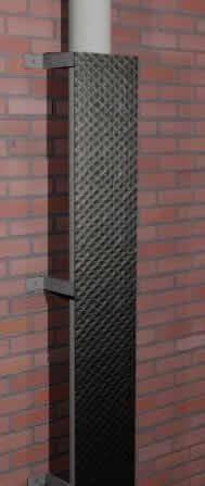 imagen Proteccion bajantes pluviales adosados a muro., en Instalaciones cloacales y pluviales - Instalaciones