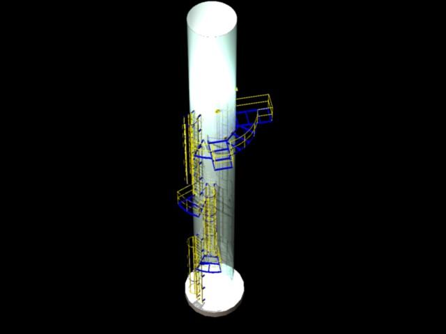Proyecto 3dchimenea caldera, en Plantas industriales – Proyectos