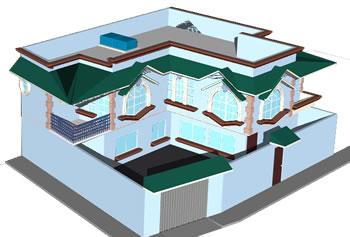 Planos de Proyecto casa habitacion en 3d, en Vivienda unifamiliar 3d – Proyectos