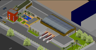 imagen Proyecto de industria en 3d, en Plantas industriales - Proyectos