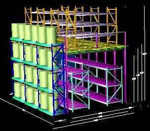 Planos de Proyecto racks y, en Estanterías y modulares – Muebles equipamiento
