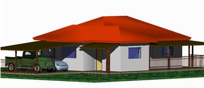 Planos de Proyecto residencial rural, en Vivienda unifamiliar 3d – Proyectos