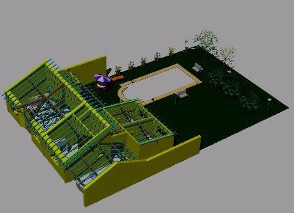 Planos de Proyecto vivienda 3 dormitorios 3d, en Vivienda unifamiliar 3d – Proyectos