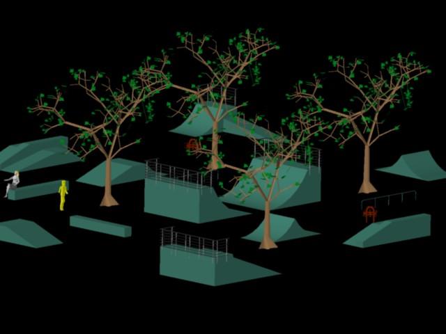 Planos de Proyecyo plaza skate, en Equipamiento – Parques paseos y jardines