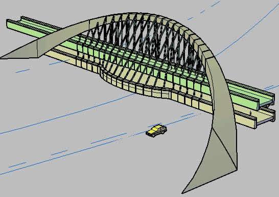 Planos de Puente 3d, en Puentes – Obras viales – diques