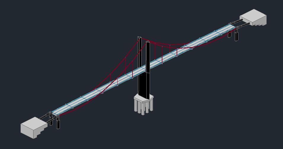 imagen Puente 3d, en Puentes - Obras viales - diques