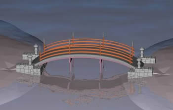 Puente caminero, en Puentes – Obras viales – diques