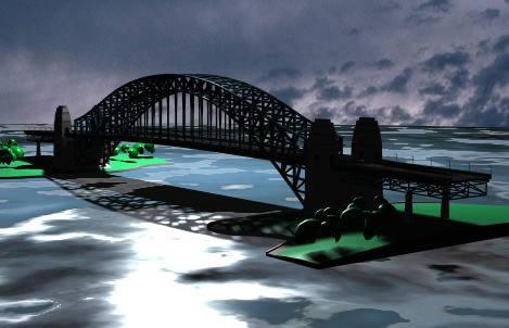 Puente carretero 3d, en Puentes – Obras viales – diques