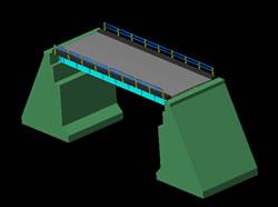 Planos de Puente carretero, en Puentes – Obras viales – diques
