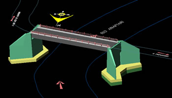 Planos de Puente carrozable san jose de anapiari 25 ml, en Puentes – Obras viales – diques