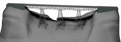 Puente de alta montaña, en Puentes – Obras viales – diques