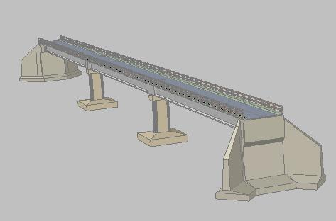 Planos de Puente de hormigon 3d, en Puentes – Obras viales – diques