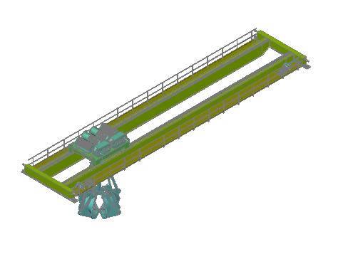 imagen Puente gruabirrail 3d, en Maquinaria e instalaciones industriales - Máquinas instalaciones