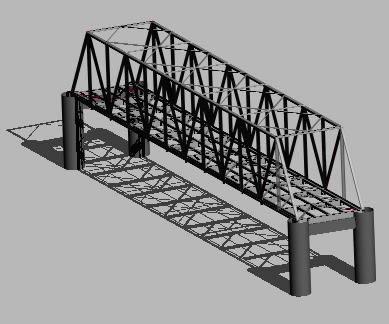 Planos de Puente metalico con arriostramiento superior