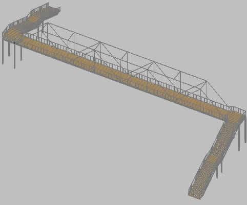 imagen Puente peatonal, en Puentes - Obras viales - diques