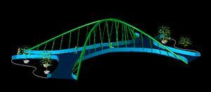 imagen Puente3d, en Puentes - Obras viales - diques