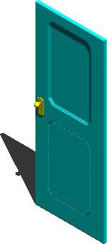imagen Puerta 3d, en Puertas 3d - Aberturas