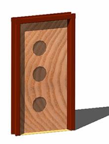 imagen Puerta 3d, en Puertas - Aberturas