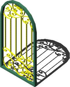 imagen Puerta 3d hierro forjado, en Puertas 3d - Aberturas