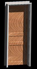 imagen Puerta 3d - hoja y marco de puerta tablero para muro de 25cm, en Puertas 3d - Aberturas