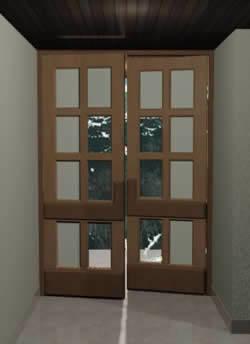 Puerta acceso area empleados 1.70×2.50 mts, en Puertas 3d – Aberturas