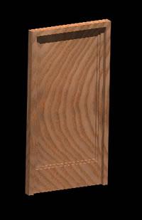 Planos de Puerta acceso madera 3d, en Puertas 3d – Aberturas